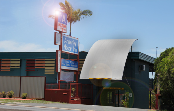 Accommodation location in annerley annerley motor inn for Holland tunnel motor lodge